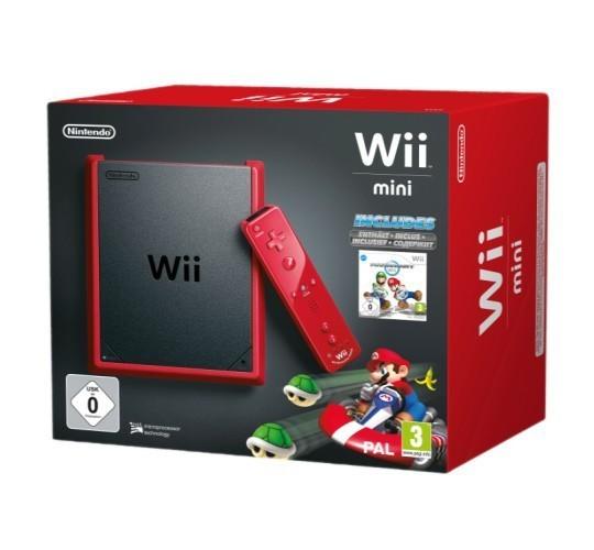 Konsole #Mini Red Edition Mario Kart Pak + Spiel + Original Remote Plus + Zubehör