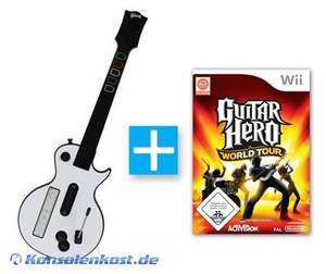 Guitar Hero World Tour + Guitar Hero Gitarre #weiß