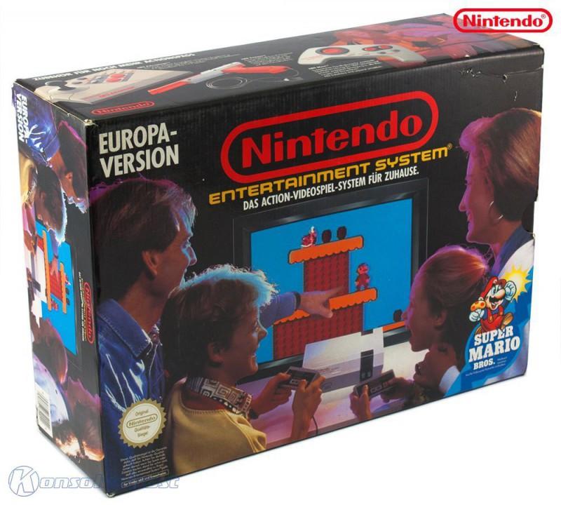 Konsole #Super Mario Bros. Set + Spiel + 2 Original Controller + Zubehör