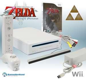Konsole #weiß + Zelda + Remote + Zubehör