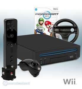 Konsole #schwarz Mario Kart Pack + Spiel + Remote Plus + Zubehör