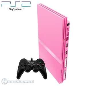 Konsole Slim #pink + Controller + Zubehör