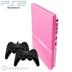 Konsole Slim #pink + 2 Controller + Zubehör