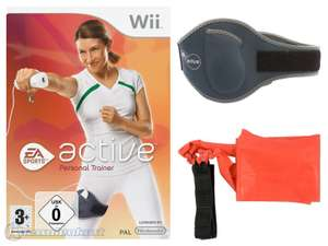 EA Sports Active 1: Personal Trainer + Beingurt #schwarz + Trainingsband #rot