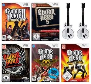 Guitar Hero Set: 3 & 5 + Warriors of Rock + Aerosmith + World Tour + 2 Gitarren #weiß
