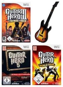 Guitar Hero Bundle: Guitar Hero 3 & 5, World Tour + 1 Guitar Controller