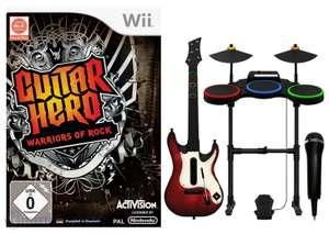 Guitar Hero: Warriors of Rock Band Pack + Spiel + Schlagzeug + Gitarre + Mikrofon