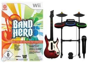 Band Hero #Super Bundle + Spiel + Gitarre + Schlagzeug + Mikrofon