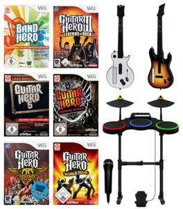 Guitar Hero Band Pack + 6 Spiele + Schlagzeug + 2 Gitarren + Mikrofon