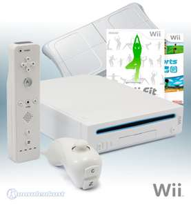 Konsole #weiß + Wii Sports + Wii Fit + Original Balance Board + Remote + Zubehör