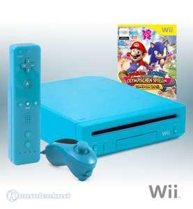 Konsole #blau + Mario & Sonic bei den Olympischen Spielen London 12 + Remote + Zubehör
