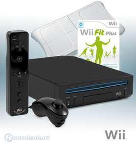Konsole RVL-101 #schwarz + Wii Fit Plus + Original Remote Plus + Original Balance Board + Zubehör
