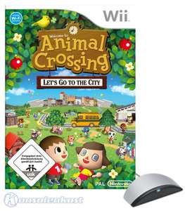 Animal Crossing: Let's go to the City + Mikrofon / Microphone Wii Speak