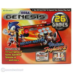 Konsole Arcade Fighting Genesis Stick + 26 Spiele + SD-Kartenslot