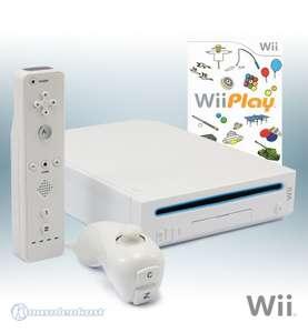 Konsole #weiß + Wii Play + Remote + Zubehör
