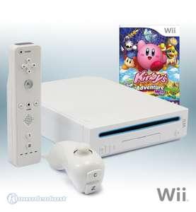 Konsole #weiß + Kirbys Adventure + Remote + Zubehör