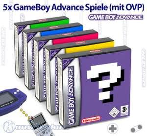 Wundertüte: 5 Original GameBoy Advance Spiele