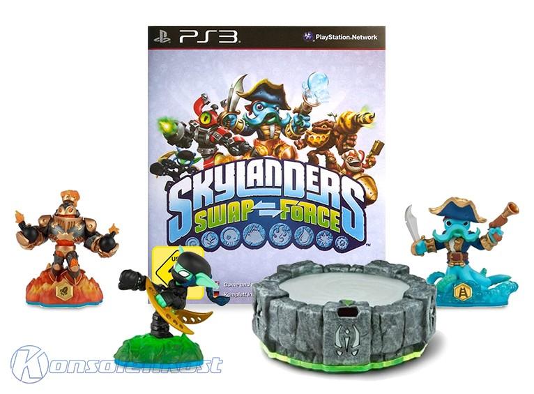 Skylanders: Swap Force + 3 Figuren + Portal of Power