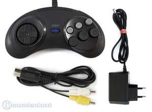 Zubehör Set: 6-Button Controller + AV Cinchkabel + Netzteil