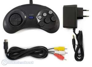 MD2 Zubehör Set: 6-Button Controller + AV Cinchkabel + Netzteil