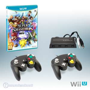 Super Smash Bros. + GameCube Adapter + 2 GameCube Controller