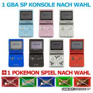 1 Konsole GBA SP + 1 Pokemon Spiel nach Wahl #Farbe nach Wahl TOP!