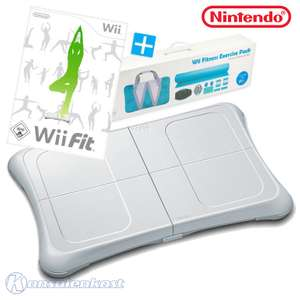 Fitness Mega Set 2: Wii Fit + Original Balance Board + 9 in 1 Fitness Exercise Pack #weiß