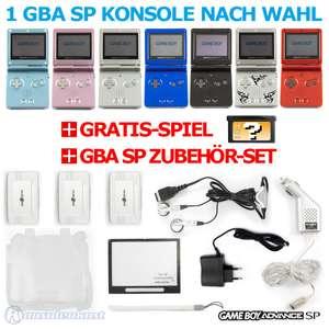 Konsole GBA SP + GRATIS SPIEL + Zubehör Set + Netzteil #Farbe nach Wahl TOP!