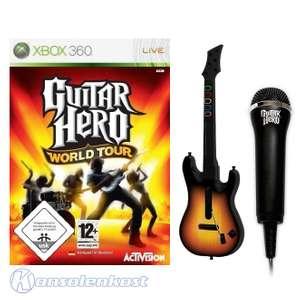 Guitar Hero: World Tour + Gitarre + Mikrofon