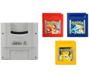 Super GameBoy Adapter + Pokemon Editionen rot, gelb & blau