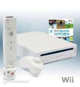 Konsole #weiß + Wii Sports + Original Remote + Nunchuk + Motion Plus Adapter + Zubehör