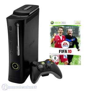 Konsole Elite 120GB #schwarz + FIFA 10 + Original Wireless Controller + Zubehör