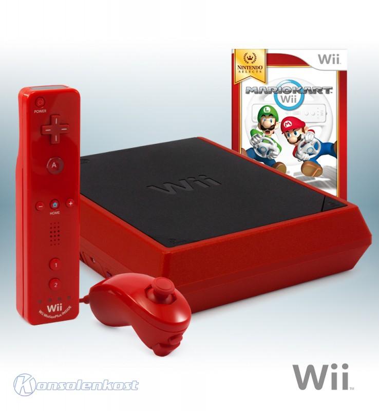Konsole #Mini Red Edition + Mario Kart + Original Remote Plus + Zubehör