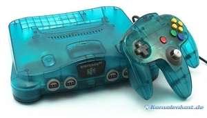 Konsole #Clear Blue + Original Controller + Zubehör