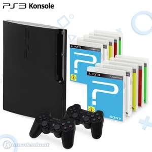 Konsole Slim 250GB #schwarz + 10 Spiele + 2 Original Controller + Zubehör