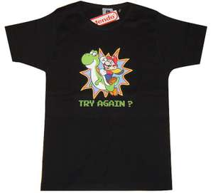 Girlie Shirt - Super Mario World Try Again? #schwarz