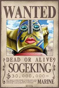 One Piece Hochglanzposter: Wanted Sogeking / 52x35cm
