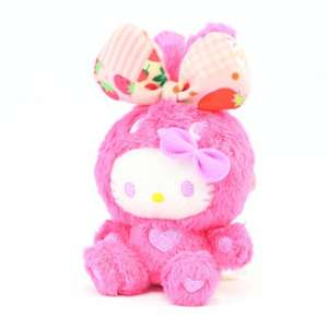 Hello Kitty Colorful Bunny Big Ribbon Stofftier / Plüsch Anhänger: Pink Kitty 15 cm