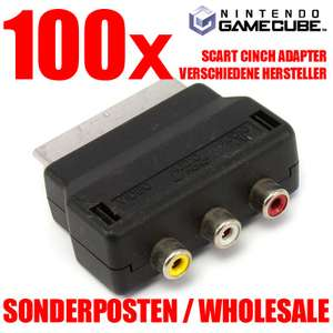 100x Scart Cinch Adapter [Dritthersteller]