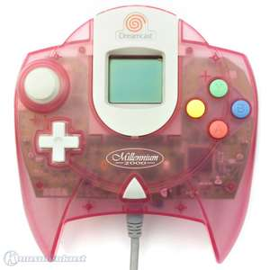 Original Controller #pink-transp. + VMU Millenium 2000 Edition