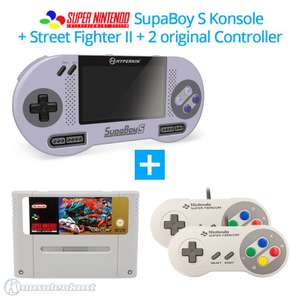 SupaBoy S Portable Handheld + Street Fighter II + 2 Original Controller