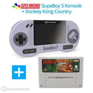 SupaBoy S Portable Handheld + Donkey Kong Country