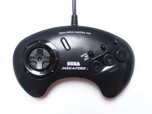 Original 3-Button Controller / Control Pad Mega Fire [SEGA]