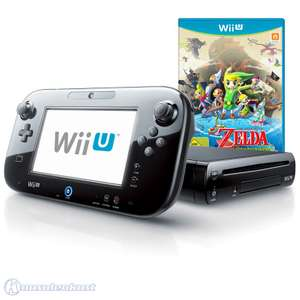 Konsole 32 GB #schwarz + Zelda Wind Waker HD + Tablet + Zubehör