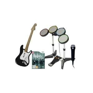 Rock Band: Beatles Band Pack + Spiel + Schlagzeug + Gitarre + Mikrofon