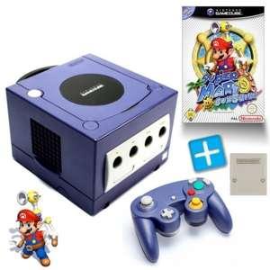 Konsole #lila + Super Mario Sunshine + Controller + Memorycard + Zubehör
