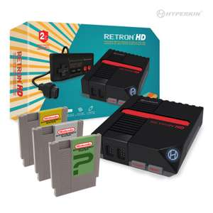 RetroN 1 HD Konsole #schwarz + 3 Spiele [Hyperkin]