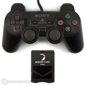 Original Sony Dualshock 2 Controller / Pad + Lioncast Memory Card 64 MB [Sony]