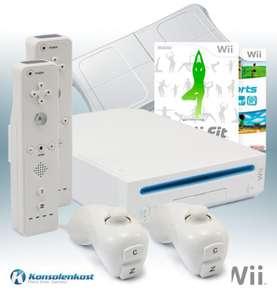 Konsole #weiß + Wii Sports + Wii Fit + Original Balance Board + 2 Remotes + Zubehör