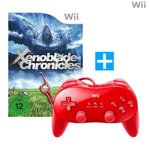Xenoblade Chronicles + Original Controller / Classic Gamepad Pro #rot